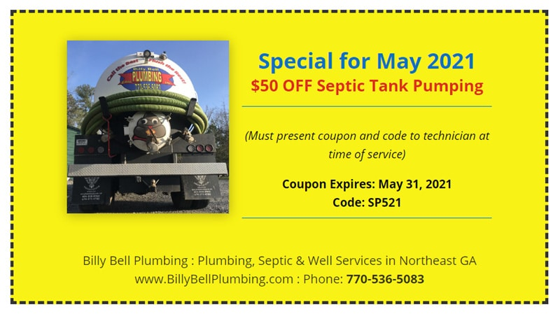 Septic Pumping, Cleaning Coupon - Gainesville, GA