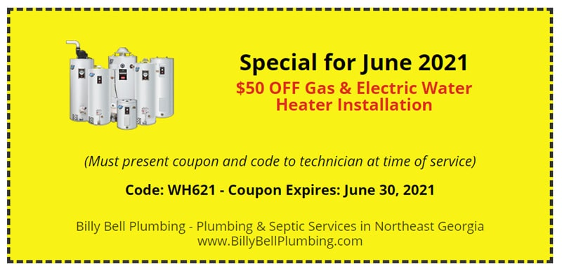 Water Heater Special Coupon - Gainesville GA